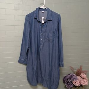 Old Navy NWT dress L/XL tencil chambray